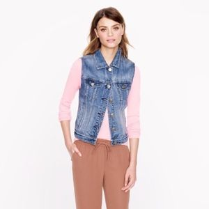 J. Crew Denim Vest In Workwear Wash jacket 51701